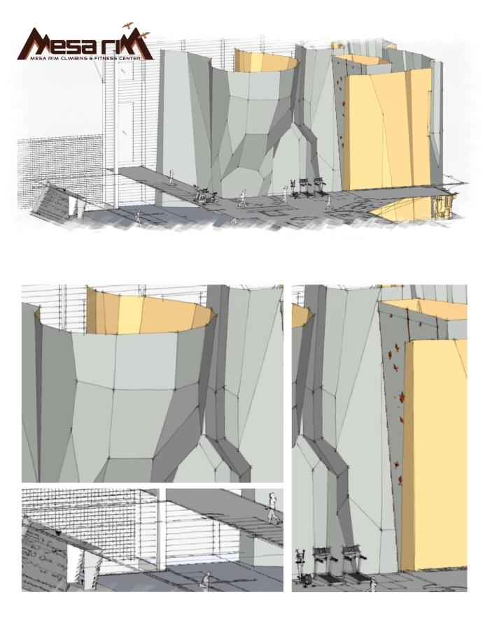 Mesa Rim Progresses Toward New Facility With Climbing Walls by Entre-Prises.