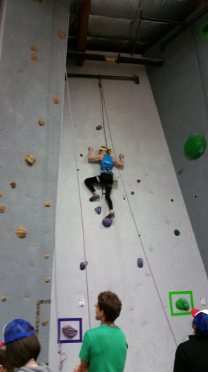 Team Mesa Rim competes at Vertical Hold